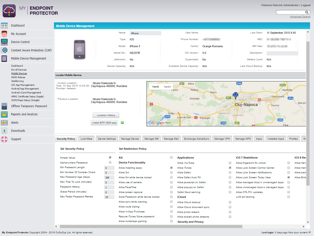 Mobile Device Management - Manage Security Restrictions for iOS